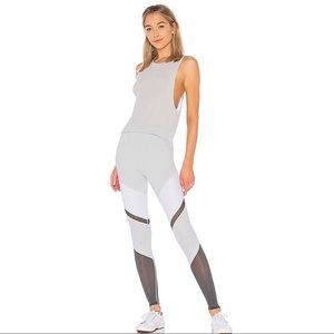 High Waist Sheila Legging in Dove Grey, White